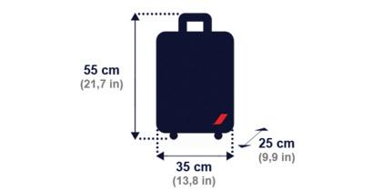 Bagaż podręczny Air France - wymiary
