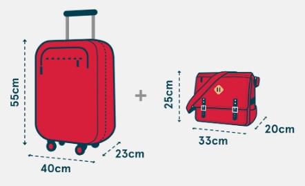 Wymiary bagażu podręcznego Norwegian